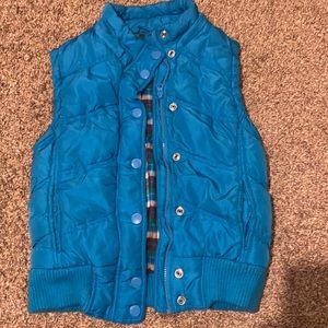 Blue Vest With Detachable Hood